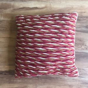 Medium size braided  accent pillow
